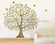 grande y hermoso de la sala del árbol de la pared pegatinas - spanish.