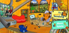 Die Seite Mit Der Maus - cute computer games in German for young children German Resources, Jüngstes Kind, Fun Games, Teaching Kids, Computer, Videos, Collaboration, Tv Series, Bubble