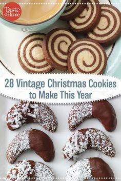 28 Vintage Christmas Cookies to Make This Year christmas diner recipes Christmas Deserts, Holiday Desserts, Holiday Cookies, Holiday Baking, Christmas Treats, Christmas Baking, Holiday Recipes, Christmas Recipes, Best Christmas Cookies