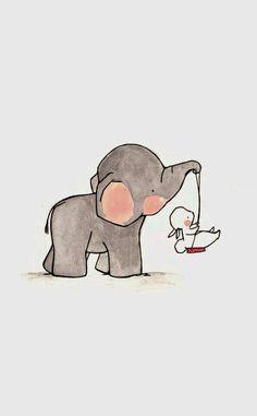 Swing Nursery Art child wall art boy nursery girl by ohhellodear Elephant Illustration, Watercolor Illustration, Lapin Art, Elephant Wallpaper, Aztec Wallpaper, Baby Wallpaper, Purple Wallpaper, Screen Wallpaper, Baby Elefant