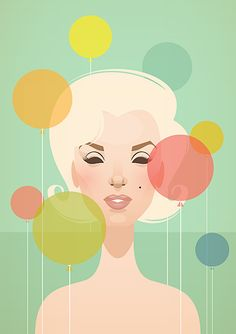 Marilyn Monroe pop illustration by Stanley Show - Something's Got to Give