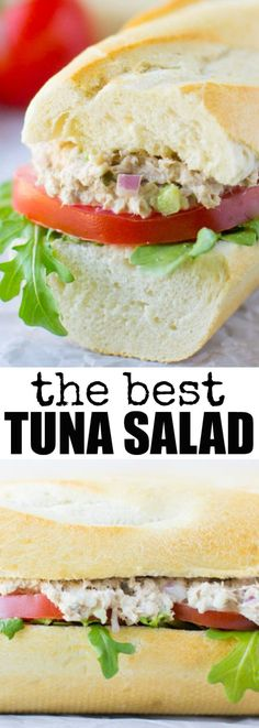 This is the best Tuna Salad recipe! It's ready in minutes, easy, and the tuna fish salad makes a great cold tuna sandwich or a tasty hot grilled tuna melt!