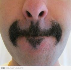 BATstache! hahaha crazy!
