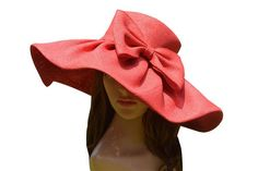 Country Kentucky Derby Sun Hat with Bow