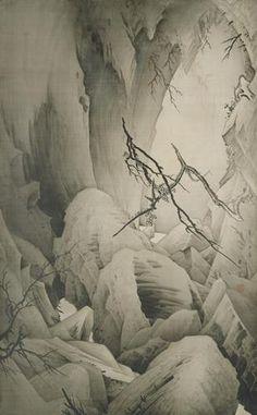 岩石(がんせき)狩野芳崖 c.1887