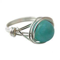 Silver Ring: Peruvian Amazonite  #ring #jewelry 9thelm.com