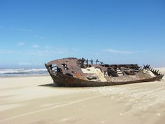 Shipwreck on South African coast