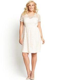 So Fabulous Lace Skater Short Sleeve Dress | very.co.uk