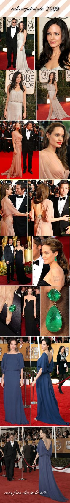 Angelina Jolie red carpet style - 2009