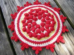 cherry pie potholder by by_dawnNN, via Flickr