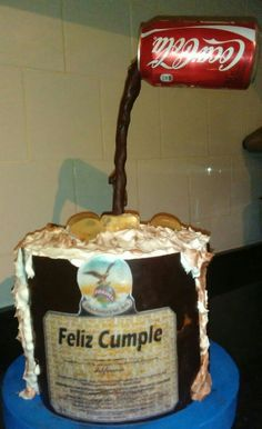 Torta fernet Ideas Para Fiestas, Food And Drink, Birthday, Desserts, Banners, Memes, Happy, Homemade Vanilla, Sweets