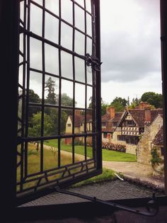 The view from the room traditionally thought to have been Anne Boleyn's childhood bedroom at Hever Castle.