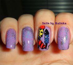 Nails by Malinka: Vuurwerk - Fireworks