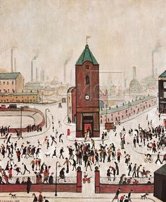 Town Centre by L S Lowry. Massive range of art prints, posters & canvases. Quality UK framing & Money Back Guarantee! Salford, Spencer, Artist Bio, Plastic Art, Middlesbrough, English Artists, David, Naive Art, Urban Landscape