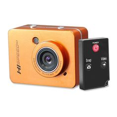 Pyle-sport 12.0 Megapixel 1080p Action Camera With 2.4'' Touchscreen (orange)