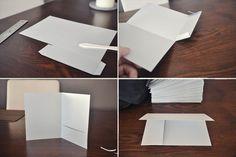DIY Pocketfold Wedding Invitations from 8.5x11 cardstock (w/ instructions)