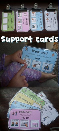 These support cards have been a life saver in my classroom management, student can ask for a break, help and understand when they need to wait and what comes next.: