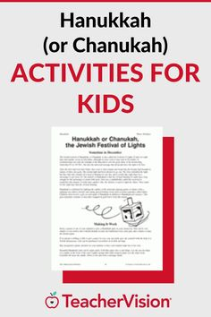 Celebrating December holidays in your classroom? Teach children about Hanukkah with these activities.