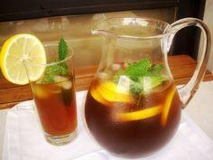 Refresco de café com limão e hortelã