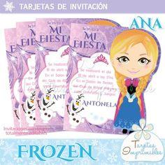 Tarjetas para imprimir Frozen