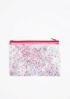 Pink & Blue Star Glitter Makeup Bag | rue21