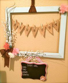 Baby Hospital Door Hanger by LaurensDoorDecor on Etsy, $55.00
