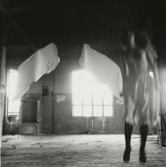 Francesca Woodman from Angel Series, Francesca Woodman, Ocean Storm, Dream Photography, Exposure Time, Matte Painting, Famous Photographers, Henri Cartier Bresson, Black And White Pictures, Body Image