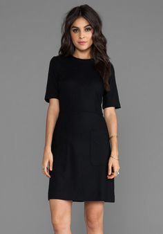 Marc by Marc Jacobs Mercedes Wool Elbow Sleeve Dress in Black