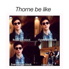 Ok, but I just started reading Cress but is Thorne completely blind??: