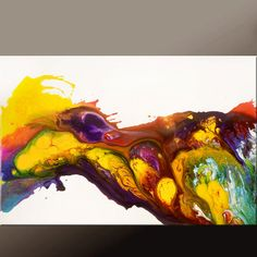 Abstract Art Painting on Canvas 36x24 Original by wostudios