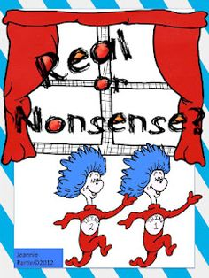 Dr. Seuss Real or Nonsense Word Sort - - Re-pinned by @PediaStaff – Please Visit http://ht.ly/63sNt for all our pediatric therapy pins