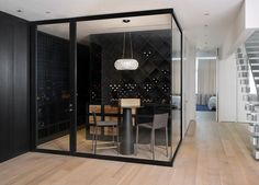 what a cool wine room.  perfect for courtney and mike!