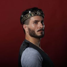 TIMOTHY King Crown Pageant Lion Medieval Men Pageant King Crown Prom  #olenagrin #Crown Male Crown, Prom Accessories, Royal Life, Kings Crown, Circlet, Prom Party, Pageant, Medieval, Special Occasion