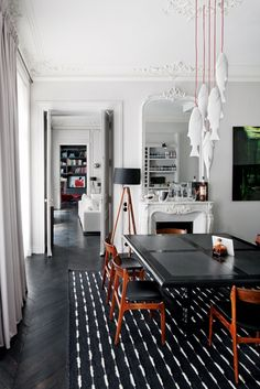 Paris apartment designed by Double G.  Photo by Helenio Barbetta