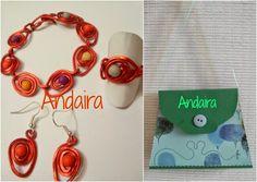 DIY: tutorial for a wire + beads necklace in Spanish --- CONJUNTO ALAMBRE Y BOLSITA/CAJA  DE CARTULINA
