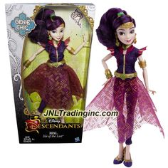 "Hasbro Disney Descendants Genie Chic Series 12"" Doll - Isle of the Lost MAL with Earrings and Choker Necklace"