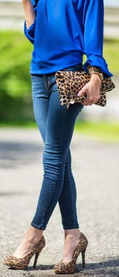 blue and leopard | on Fashionfreax you can discover new designers, brands & trends.