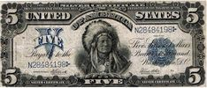Historical Times — ausonia: 1899 $5 Silver Certificate, the only US...