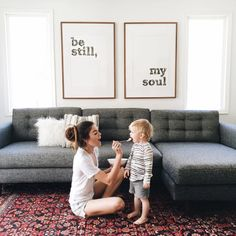 Adorable photo but I LOVE the wall art!