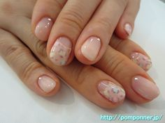 leopard pattern of pastel colors cute nail colorful