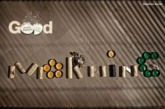 "Brand: Alka Seltzer Communication objective: Once again, to convey the use of alka seltzer and the product benefits. Tagline: Good morning Image: wine corks, beer caps, etc spelling out good morning. The images work together to convey to the viewer that drinking and smoking can lead to a hangover in the morning and the tagline ""good morning"" is somewhat ironic and funny."