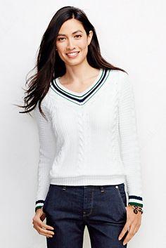 Drifter V-Pullover mit Streifenausschnitt