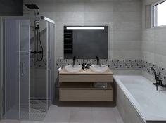 3D látványterv FAP Nux burkolattal #3dlátványterv #3dlátványtervezés #baustyl #lakberendezes #lakberendezesiotletek #stylehome #otthon #homedecor #inspiration #design #homeinspiration #interiordesign #interior #elevation #3dplan #bathroom #bathtub #mirror #washbasin #shower #Fap #FapNux #tiles 3d Visualization, Bathroom Lighting, Bathroom Ideas, Bathtub, Mirror, Furniture, Home Decor, Bathroom Light Fittings, Standing Bath