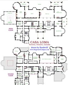 Casa Loma - 1st and 2nd floors