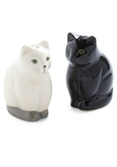 Salt and Pep-purr Shaker Set - Black, Solid, Quirky, White, Holiday Sale, Top Rated