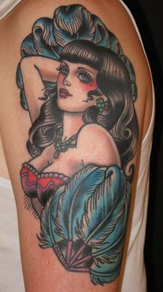 Pinup Oldschool Tattoo                                                                                                                                                                                 More