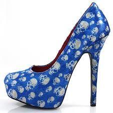 Blue Skull Heels