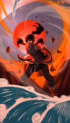 Korra Avatar State Power by SolKorra
