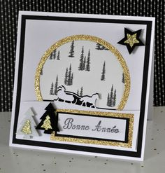 Cartes de voeux - Les ateliers Stampin'up de Catherine Stampin Up, Christmas Cards, Xmas, Homemade Cards, Invitations, Frame, Holiday, Silhouette, Collection