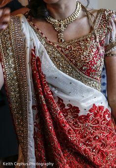 An Indian bride gets ready for her wedding day
